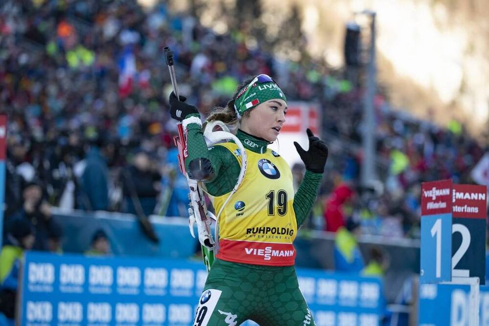 17.01.2019, Ruhpolding, Germany (GER):Dorothea Wierer (ITA) -  IBU world cup biathlon, sprint women, Ruhpolding (GER). www.nordicfocus.com. © Manzoni/NordicFocus. Every downloaded picture is fee-liable.