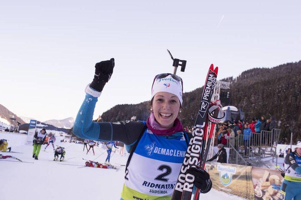 27.01.2018, Ridnaun, Italy (ITA):Chloe Chevalier (FRA) - IBU Open European championships biathlon, pursuit women, Ridnaun (ITA). www.nordicfocus.com. © Manzoni/NordicFocus. Every downloaded picture is fee-liable.