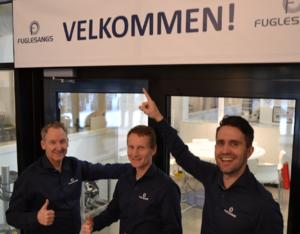 Fra venstre: Tom Arne Bergmann – salgs & markedssjef, Asmund Hansen – KAM VA, Alan Linderoth – Senior salgsingeniør VA Foto: Kjell M. Jacobsen