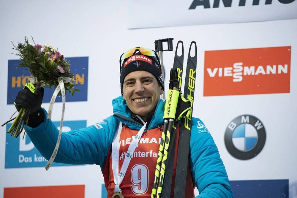 27.01.2019, Antholz, Italy (ITA):Quentin Fillon Maillet (FRA) -  IBU world cup biathlon, mass men, Antholz (ITA). www.nordicfocus.com. © Manzoni/NordicFocus. Every downloaded picture is fee-liable.