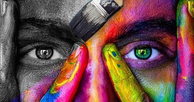 Illustrasjonsbilde ansiktsmaling