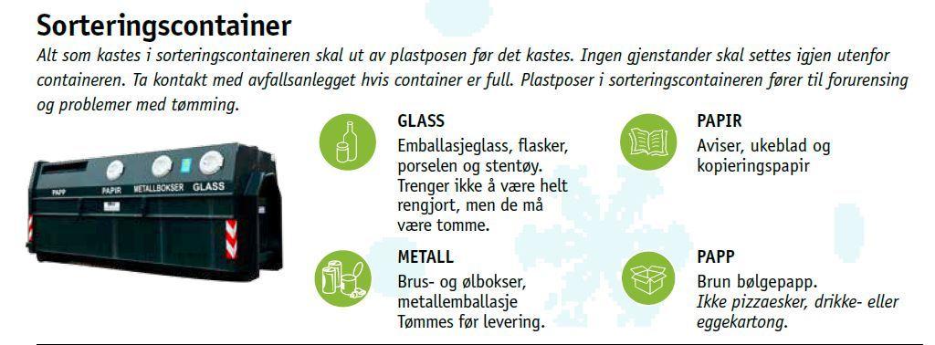 Sorteringscontainer i Longyearbyen