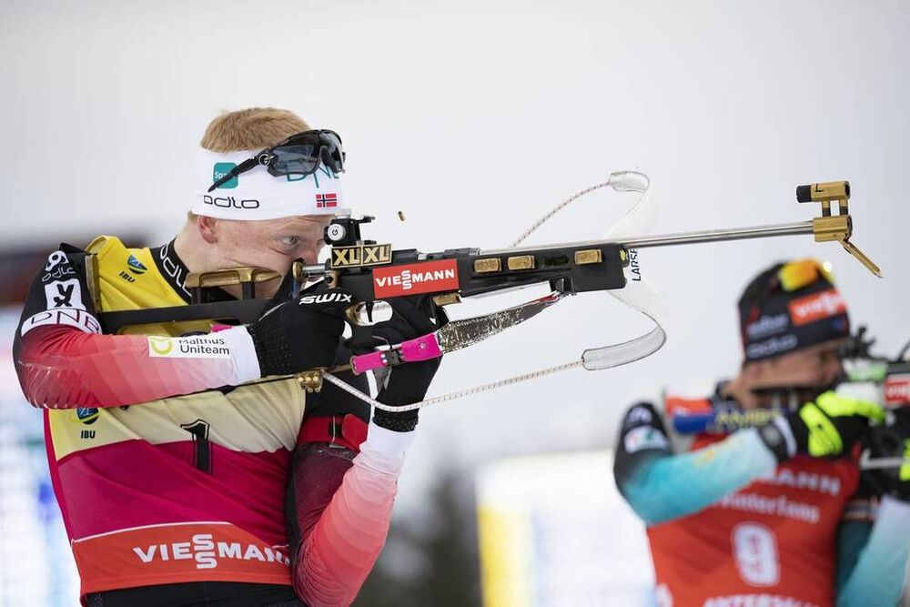 27.01.2019, Antholz, Italy (ITA):Johannes Thingnes Boe (NOR) -  IBU world cup biathlon, mass men, Antholz (ITA). www.nordicfocus.com. © Manzoni/NordicFocus. Every downloaded picture is fee-liable.