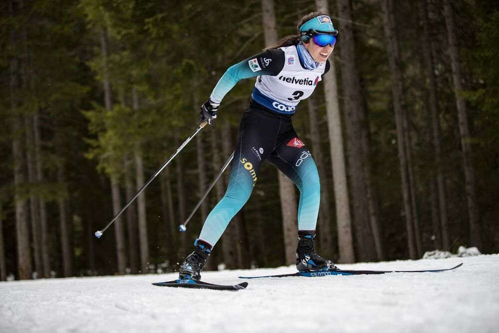 30.12.2018, Toblach, Italy (ITA):Laura Chamiot Maitral (FRA) - FIS world cup cross-country, tour de ski, 10km women, Toblach (ITA). www.nordicfocus.com. © Modica/NordicFocus. Every downloaded picture is fee-liable.