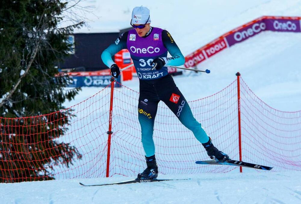 26.01.2019, Trondheim, Norway (NOR):Antoine Gerard (FRA) - FIS world cup nordic combined, individual gundersen HS140/10km, Trondheim (NOR). www.nordicfocus.com. © Volk/NordicFocus. Every downloaded picture is fee-liable.