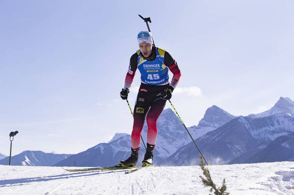 07.02.2019, Canmore, Canada (CAN):Lars Helge Birkeland (NOR) -  IBU world cup biathlon, short individual men, Canmore (CAN). www.nordicfocus.com. © Manzoni/NordicFocus. Every downloaded picture is fee-liable.
