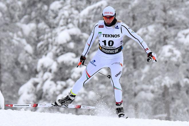 MIA ERIKSSON, Piteå Elit gjorde ett mycket fint lopp och vann damernas 10 km fristil i Volkswagen Cup i Hudiksvall. Foto/rights: ROLF ZETTERBERG/kekstock.com