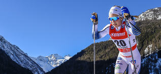 16.02.2019, Cogne, Italy (ITA):Johanna Hagstroem (SWE) - FIS world cup cross-country, individual sprint, Cogne (ITA). www.nordicfocus.com. © Thibaut/NordicFocus. Every downloaded picture is fee-liable.