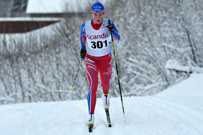 REVANSCH för Moa Hansson som vann den äldre juniorklassen i Scandic Cup-sprinten på Lugnet i Falun. Foto/rights: ROLF ZETTERBERG/kekstock.com