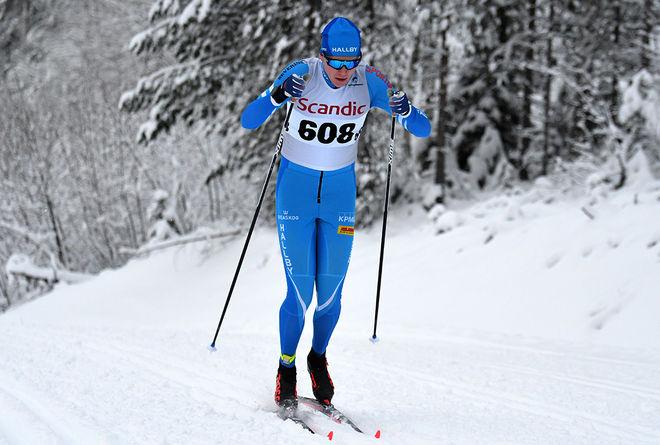JONATHAN NORDER, IF Hallby SOK fick äntligen en stor seger den här säsongen då han spurtade hem masstarten i Scandic Cup i Hudiksvall. Foto/rights: ROLF ZETTERBERG/kekstock.com