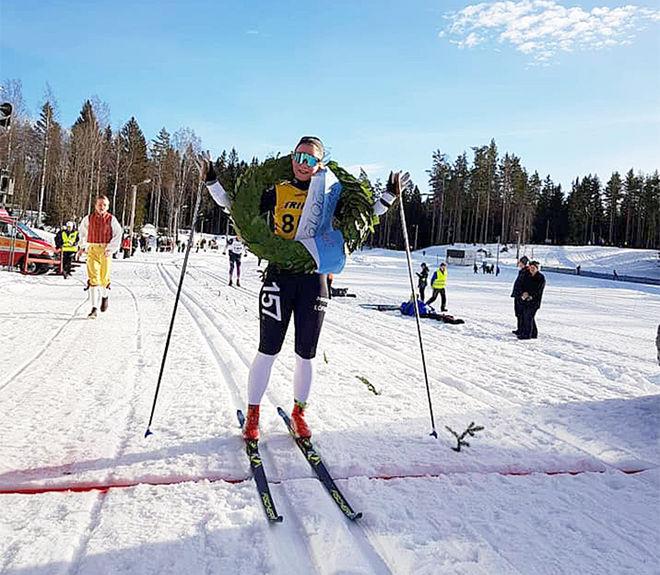 ELIN MOHLIN var helt överlägsen bland damerna i det 52 km långa Bessemerloppet i Gästrikland. Foto: LAGER 157 SKI TEAM