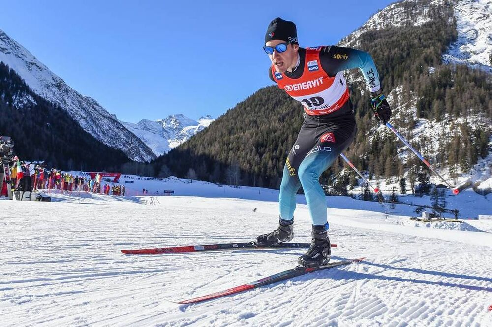 16.02.2019, Cogne, Italy (ITA):Valentin Chauvin (FRA) - FIS world cup cross-country, individual sprint, Cogne (ITA). www.nordicfocus.com. © Thibaut/NordicFocus. Every downloaded picture is fee-liable.
