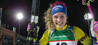 20.02.2019, Minks-Raubichi, Belarus (BLR):Hanna Oeberg (SWE) - IBU Open European championships biathlon, individual women, Minsk-Raubichi (BLR). www.nordicfocus.com. © Manzoni/NordicFocus. Every downloaded picture is fee-liable.