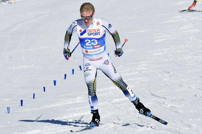 JENS BURMAN var given i herrarnas A-lag. Här från VM i Seefeld. Foto/rights: ROLF ZETTERBERG/kekstock.com