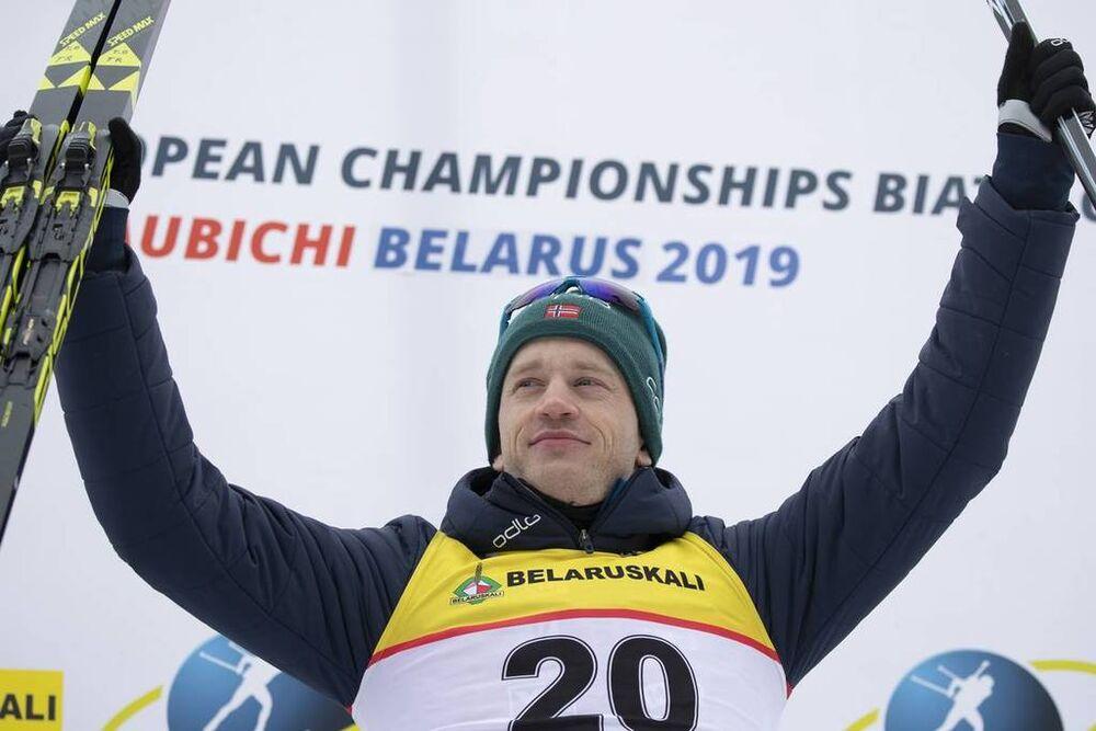 23.02.2019, Minks-Raubichi, Belarus (BLR):Tarjei Boe (NOR) - IBU Open European championships biathlon, sprint men, Minsk-Raubichi (BLR). www.nordicfocus.com. © Manzoni/NordicFocus. Every downloaded picture is fee-liable.