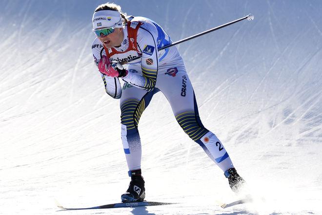 MAJA DAHLQVIST avgjorder VM-finalen i teamsprint. Foto/rights: ROLF ZETTERBERG/kekstock.com
