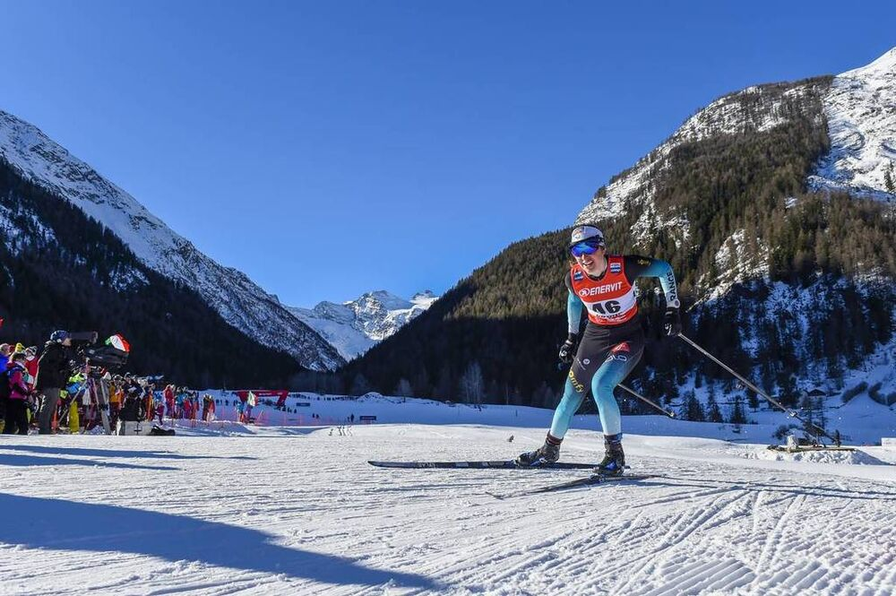 16.02.2019, Cogne, Italy (ITA):Laura Chamiot Maitral (FRA) - FIS world cup cross-country, individual sprint, Cogne (ITA). www.nordicfocus.com. © Thibaut/NordicFocus. Every downloaded picture is fee-liable.