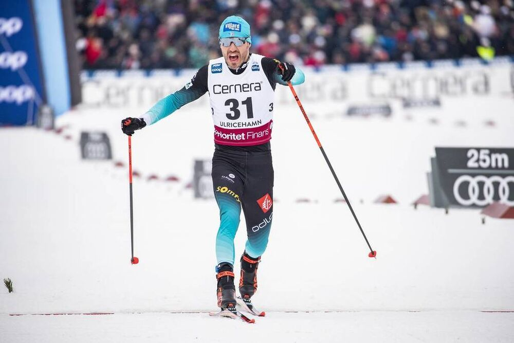 26.01.2019, Ulricehamn, Sweden (SWE):Robin Duvillard (FRA) - FIS world cup cross-country, 15km men, Ulricehamn (SWE). www.nordicfocus.com. © Modica/NordicFocus. Every downloaded picture is fee-liable.