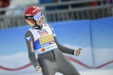 02.03.2019, Seefeld, Austria (AUT):Daniela Iraschko Stolz (AUT) - FIS nordic world ski championships, ski jumping, mixed team HS109, Seefeld (AUT). www.nordicfocus.com. © THIBAUT/NordicFocus. Every downloaded picture is fee-liable.