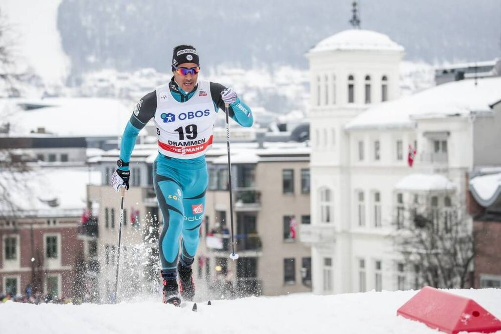 07.03.2018, Drammen, Norway (NOR):Richard Jouve (FRA) - FIS world cup cross-country, individual sprint, Drammen (NOR). www.nordicfocus.com. © Modica/NordicFocus. Every downloaded picture is fee-liable.
