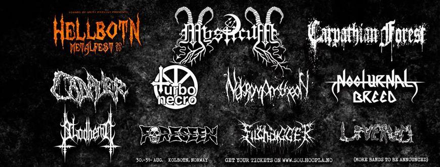 Hellbotn - Line up banner mars 2019
