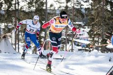 16.03.2018, Falun Sweden (SWE):Michal Novak (CZE), Johannes Hoesflot Klaebo (NOR), (l-r)  - FIS world cup cross-country, individual sprint, Falun (SWE). www.nordicfocus.com. © Modica/NordicFocus. Every downloaded picture is fee-liable.