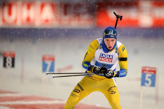 SEBASTIAN SAMUELSSON slutade 4:a på 20 km distans i VM på hemmaplan och var mycket nära en medalj. Foto/rights: NORDIC FOCUS