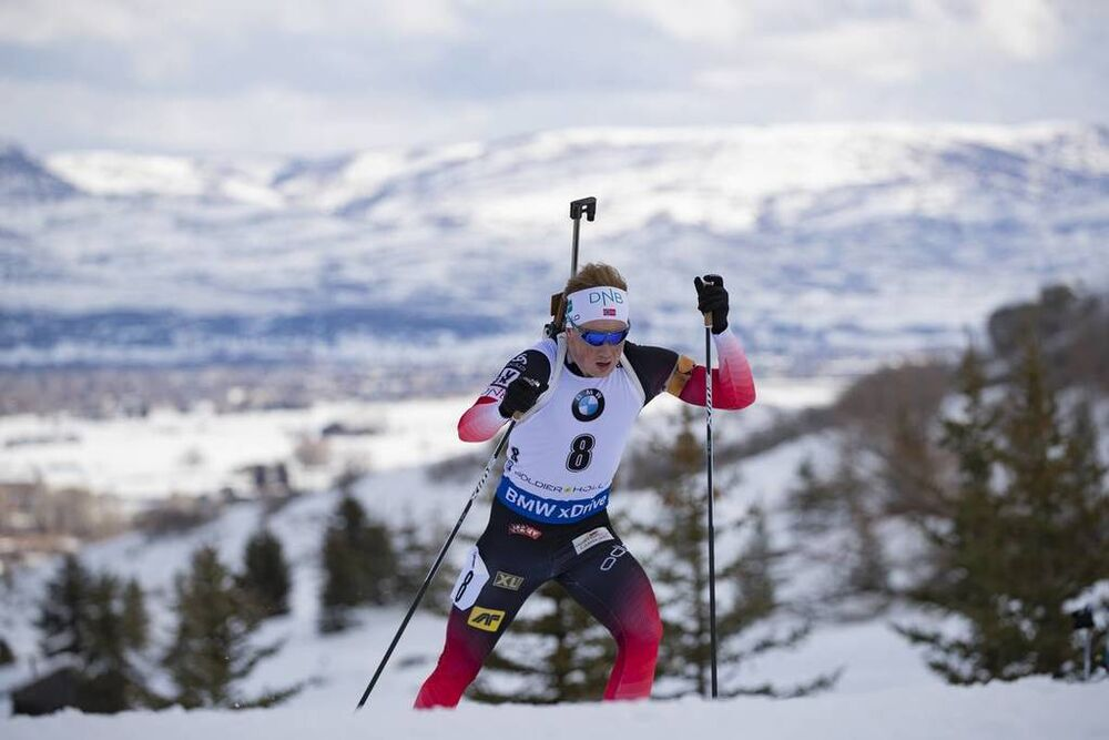 15.02.2019, Soldier Hollow, United States of America (USA):Johannes Dale (NOR) -  IBU world cup biathlon, sprint men, Soldier Hollow (USA). www.nordicfocus.com. © Manzoni/NordicFocus. Every downloaded picture is fee-liable.