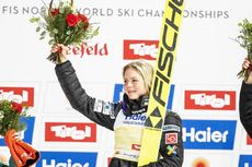27.02.2019, Seefeld, Austria (AUT):Lundby Maren (NOR) - FIS nordic world ski championships, ski jumping ladies, individual HS109, Seefeld (AUT). www.nordicfocus.com. © Modica/NordicFocus. Every downloaded picture is fee-liable.