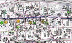 Kartskisse over Geiteramsen og vegen som stenges