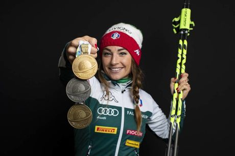17.03.2019, Oestersund, Sweden (SWE):Dorothea Wierer (ITA) - IBU world championships biathlon, medals, Oestersund (SWE). www.nordicfocus.com. © Manzoni/NordicFocus. Every downloaded picture is fee-liable.