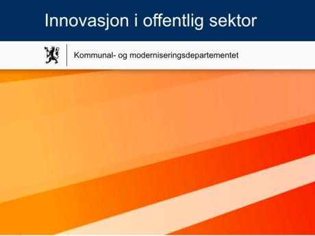Innovasjon i offentlig sektor. Illustrasjon fra nettstedet.