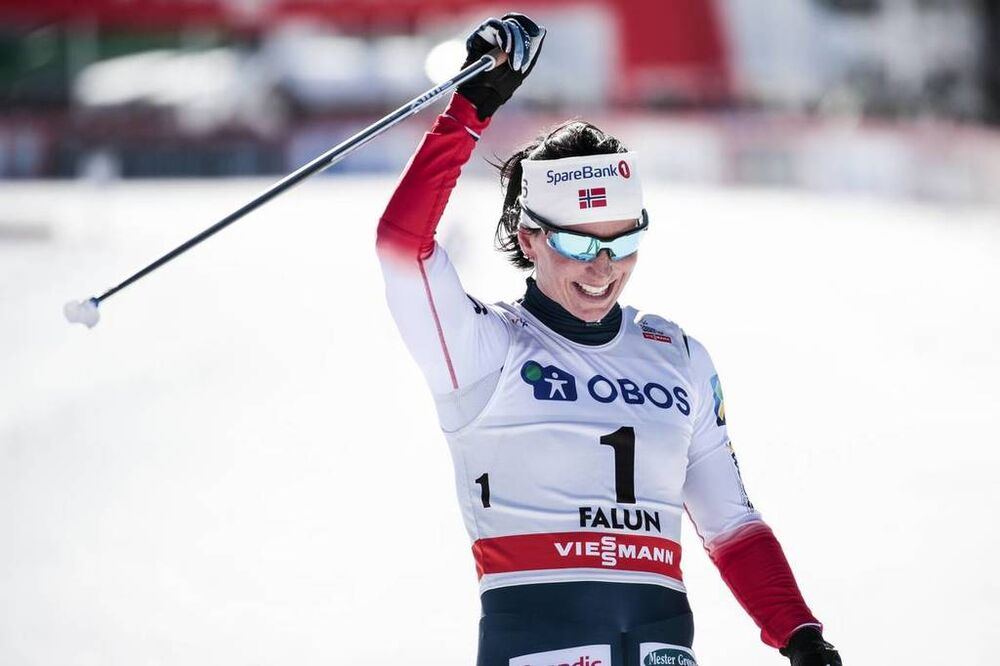 18.03.2018, Falun Sweden (SWE):Marit Bjoergen (NOR) - FIS world cup cross-country, pursuit women, Falun (SWE). www.nordicfocus.com. © Modica/NordicFocus. Every downloaded picture is fee-liable.