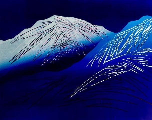 Stub: Mot en polarnatt, linosnitt, 60 x 75 cm