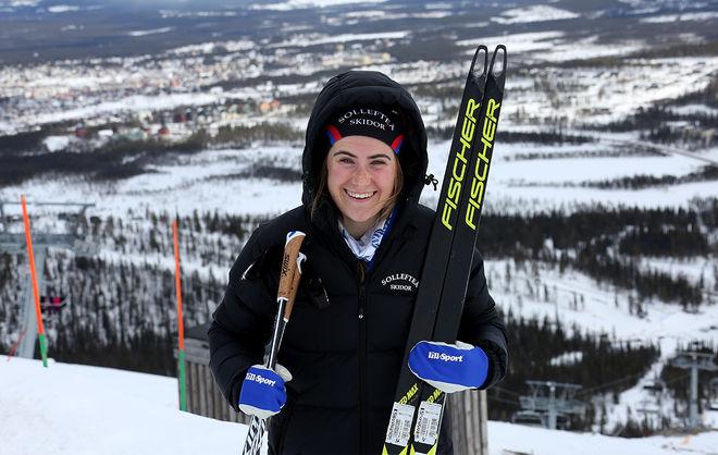 EBBA ANDERSSON vann senast hon tävlade i Gällivare. Nu blir det inga tävlingar här och heller inte före nyår meddelar Svenska Skidförbundet. Foto/rights: KJELL-ERIK KRISTIANSEN/kekstock.com