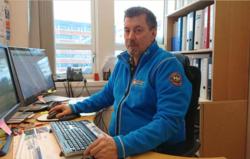 HELE AVDELINGEN I SVING: Leder for byggesak i Hammerfest kommune, Sigmund Andersen, har hele avdelingen i sving med tilsyn. Foto: Hammerfest kommune.