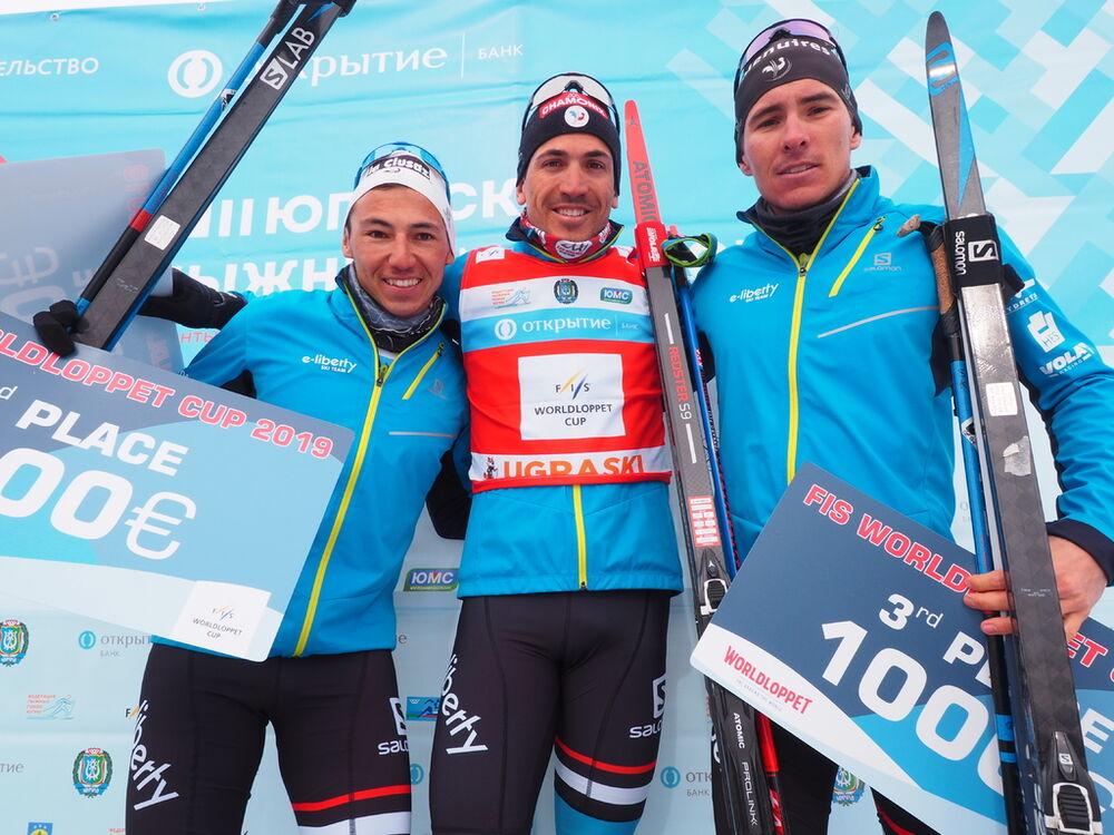 FIS Worldloppet Cup podium men