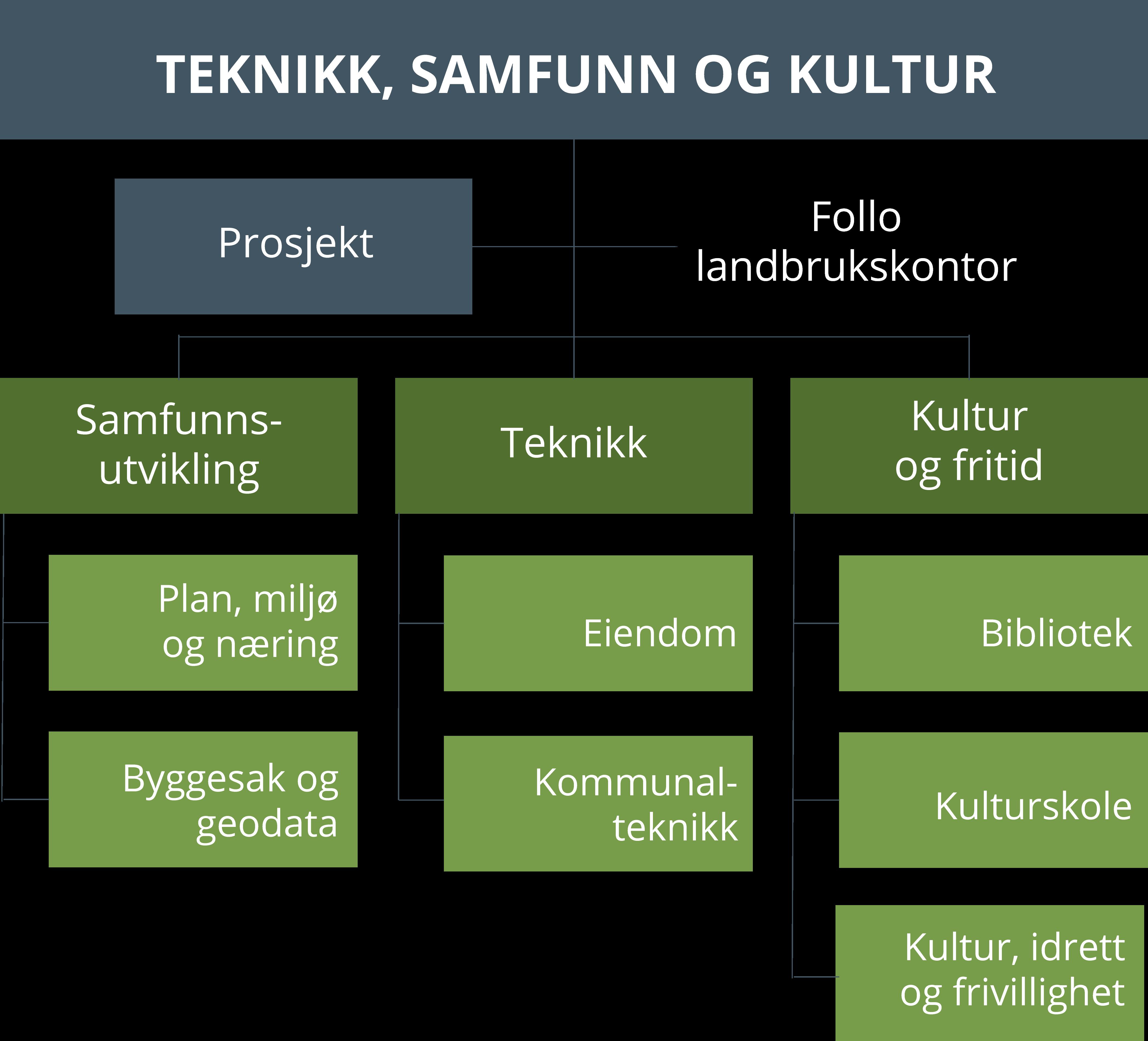 Organisering av kommunalområdet teknikk, samfunn og kultur