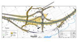 Karttegning som viser planen for utbedring av riksveg 4 over Lygna.