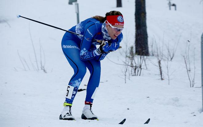 ANNA DYVIK får en viktig uppgift för IFK Mora i par med Stina Nilsson i SM i teamsprint i Bruksvallarna under torsdagen. Foto/rights: FILIP DANIELSSON/kekstock.com