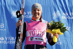 SOFIE ELEBRO, Team Ragde Eiendom vann ungdomströjan i sin första riktiga säsong i Visma Ski Classics. Foto: MAGNUS ÖSTH