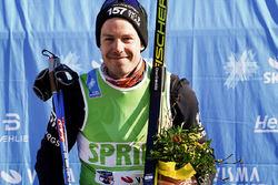 ANTON KARLSSON, Lager 157 Ski Team med den gröna sprinttröjan i Visma Ski Classics för säsongen 2018/2019. Foto: MAGNUS ÖSTH