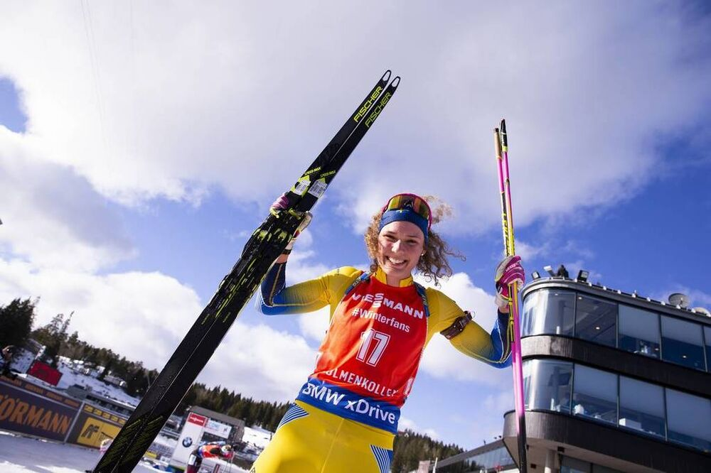 23.03.2019, Oslo, Norway (NOR):Hanna Oeberg (SWE) - IBU world cup biathlon, pursuit women, Oslo (NOR). www.nordicfocus.com. © Manzoni/NordicFocus. Every downloaded picture is fee-liable.