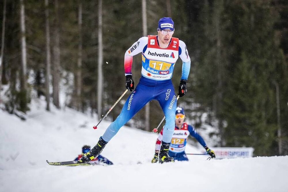 01.03.2019, Seefeld, Austria (AUT):Dario Cologna ((SUI)) - FIS nordic world ski championships, cross-country, 4x10km men, Seefeld (AUT). www.nordicfocus.com. © Modica/NordicFocus. Every downloaded picture is fee-liable.