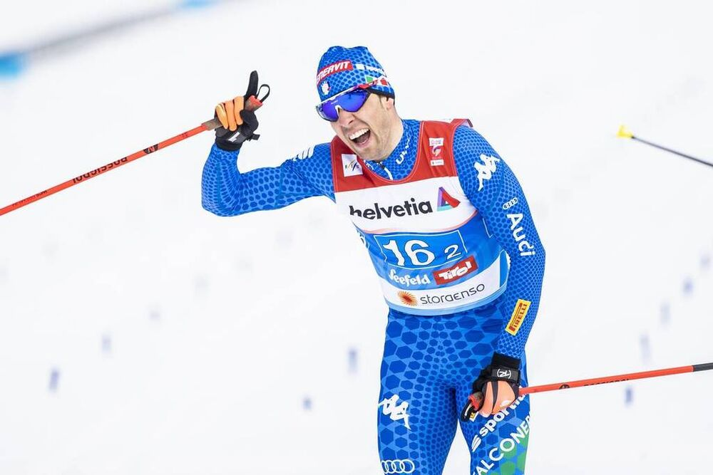 24.02.2019, Seefeld, Austria (AUT):Federico Pellegrino (ITA) - FIS nordic world ski championships, cross-country, team sprint, Seefeld (AUT). www.nordicfocus.com. © Modica/NordicFocus. Every downloaded picture is fee-liable.