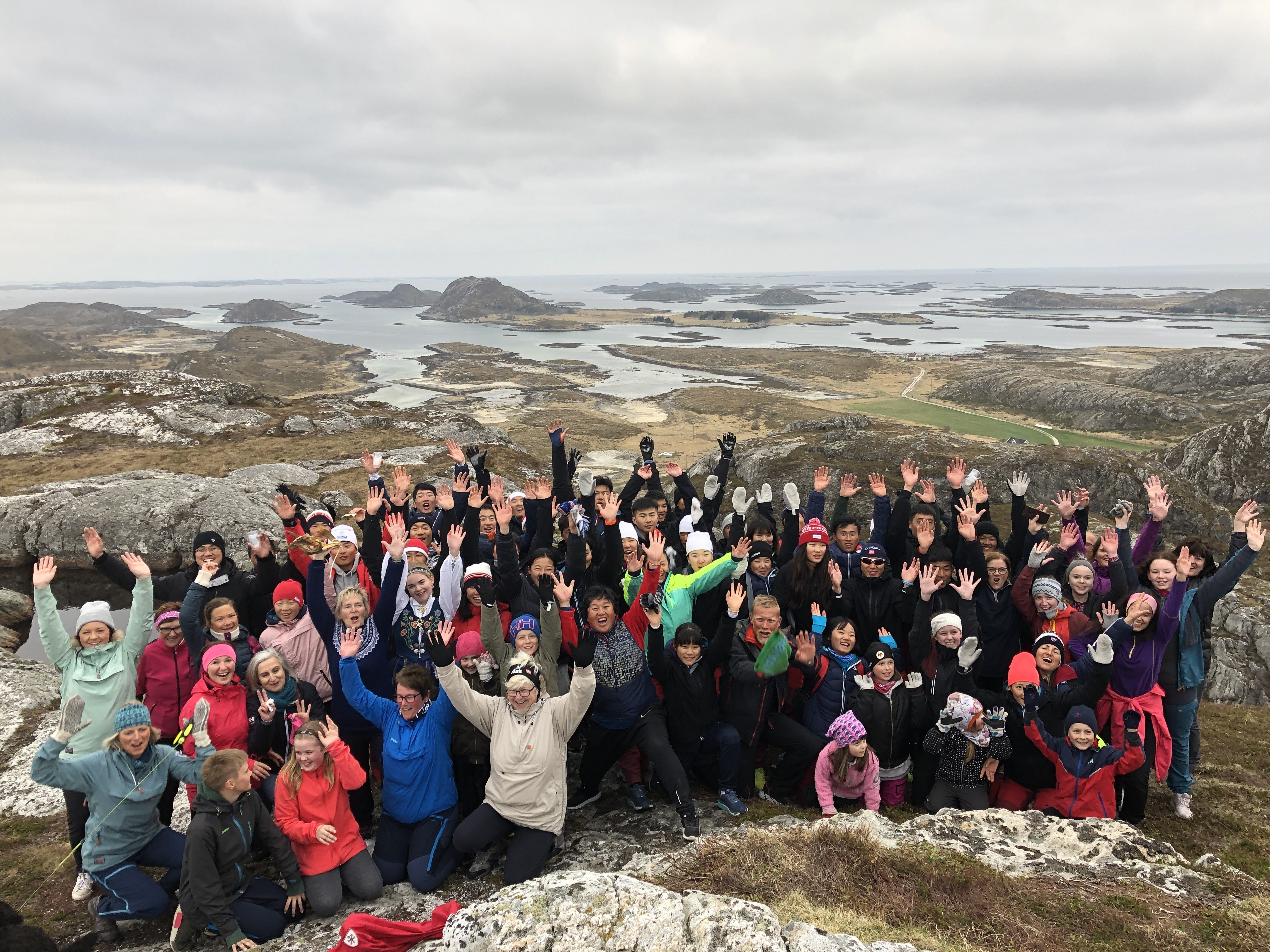 Besøk av det kinesiske rekrutteringslandslaget for langrenn_turmars på Innerøyfjellet