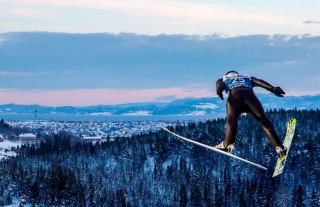 27.01.2019, Trondheim, Norway (NOR):Espen Andersen (NOR) - FIS world cup nordic combined, individual gundersen HS140/10km, Trondheim (NOR). www.nordicfocus.com. © Volk/NordicFocus. Every downloaded picture is fee-liable.