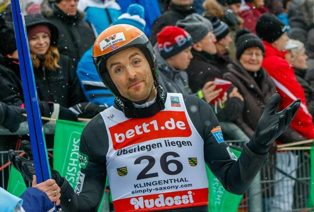 02.02.2019, Klingenthal, Germany (GER):Magnus Hovdal Moan (NOR) - FIS world cup nordic combined, individual gundersen HS140/10km, Klingenthal (GER). www.nordicfocus.com. © Volk/NordicFocus. Every downloaded picture is fee-liable.