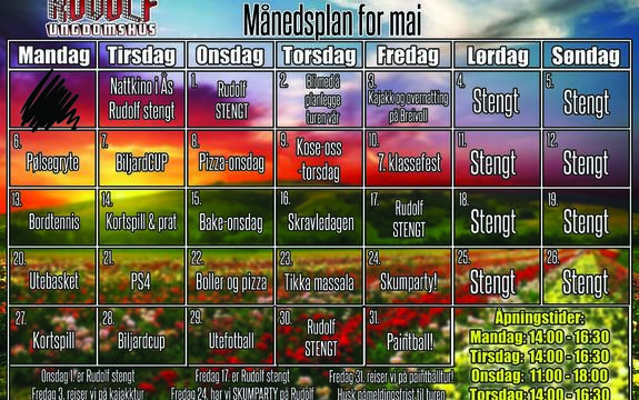 Månedsplan mai Rudolf 2019