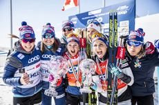 24.03.2019, Quebec, Canada (CAN):Ingvild Flugstad Oestberg (NOR), Therese Johaug (NOR), (l-r)  - FIS world cup cross-country, pursuit women, Quebec (CAN). www.nordicfocus.com. © Modica/NordicFocus. Every downloaded picture is fee-liable.